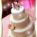 130x130 sq 1427309834905 mooshus elegant bow ivory preal ribbon wedding cak