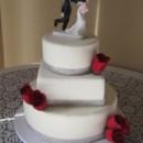 130x130 sq 1427310708496 mooshus rhinestone ribbon wedding cake