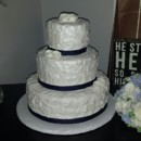 130x130 sq 1433870035858 mooshus textured wedding cake and royal blue ribbo