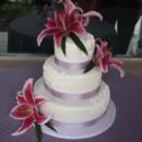 130x130 sq 1433870936359 mooshus lavendar white scroll work wedding cake