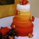 130x130 sq 1455420494463 mooshus circus roses ombre orange wedding cake4