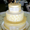 130x130 sq 1461083423094 mooshus 50th wedding anniversary cake yellow white