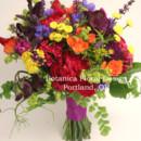 130x130 sq 1405282854246 bright wildflower bridalbouquetpurplemagentayellow