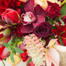 130x130 sq 1405284369262 weddingcenterpieceburgundypeachuniquebotanicaflora