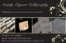Simply Elegant Calligraphy photo