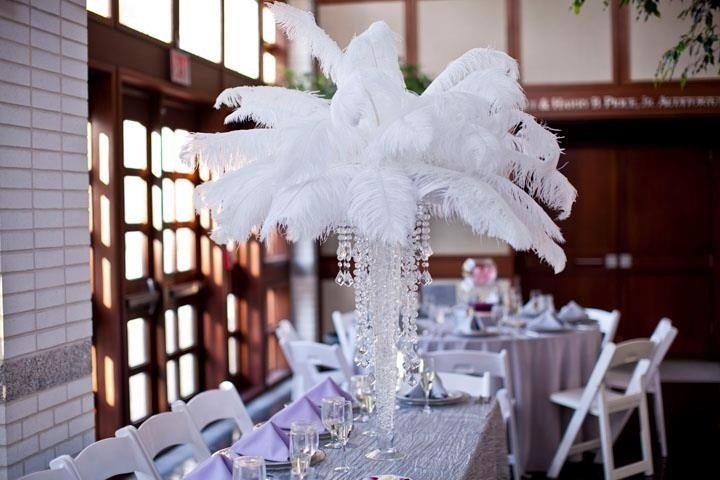 Ostrich feathers by pure dymonds event rentals