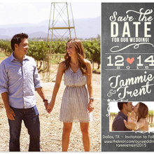 220x220 sq 1427501098191 chalk save the date magnet two photo
