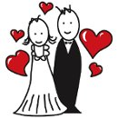130x130 sq 1345314842344 bigstockcartoonmarriedcouple25111001