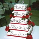 LOVE'S BEAUTY: 5-tiers of flowing vinery and elegant roses is the epitome of 'Love's Beauty'.
