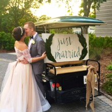 220x220 sq 1474474555027 bg just married golf cart