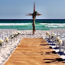 220x220 sq 1474479879472 ceremony on beach horizontal