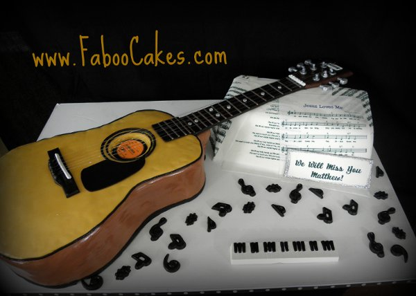 Guitar Wedding Cakes
