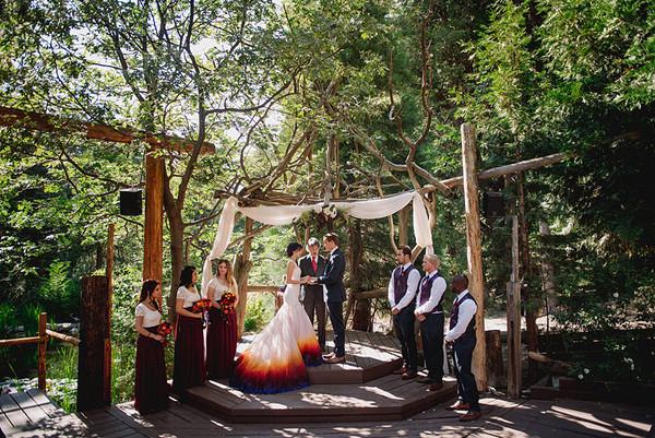Arrowhead pine rose twin peaks ca wedding venue for Cabin wedding venues