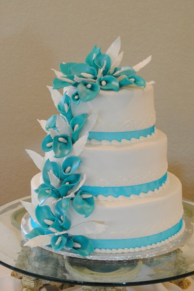 turquoise blue and white wedding cakes creative cakes by azle tx wedding cake 21306