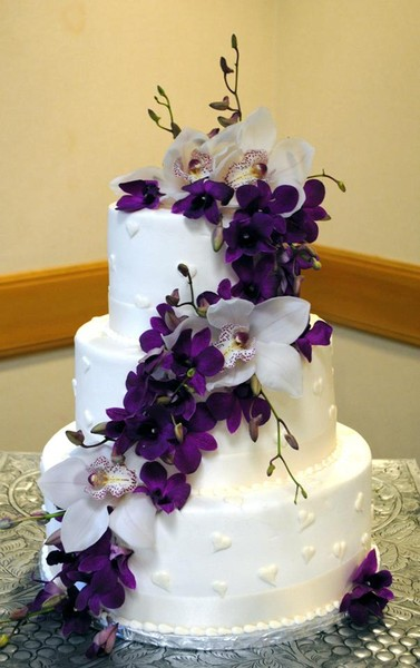 purple orchid wedding cake creative cakes by reviews dallas cake amp bakery 6900