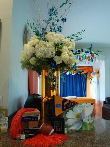 Blue white centerpiece centerpieces wedding reception