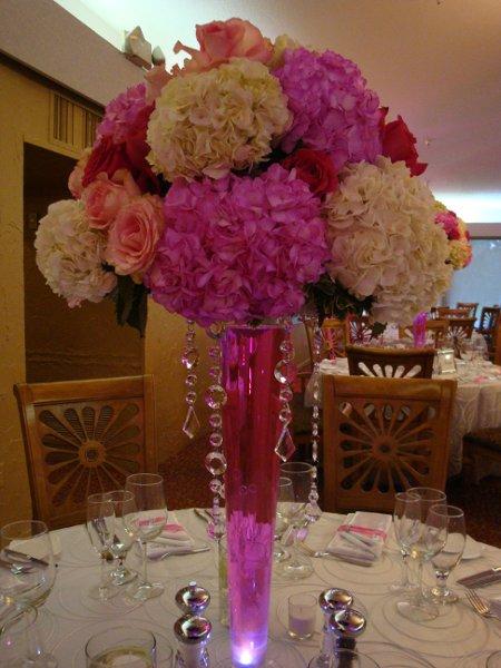 Pink white centerpiece centerpieces wedding flowers photos