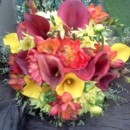 130x130 sq 1380080969362 calla lily and dahlia bouquet