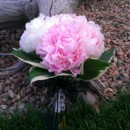 130x130 sq 1380081430030 peony and hosta leaves bouquet