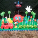 130x130 sq 1304441134524 denvercoloradocreativecakecollectionmickeymouseclubhousebirthdaycake