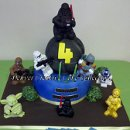130x130 sq 1304441221899 denvercoloradocreativecakecollectionstarwarschildsbirthdaycake