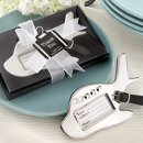 Silver Plane Luggage Tag