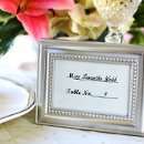 Silver Beaded Place Card Holder/Picture Frame