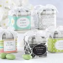 Personalized Favor Tins with Organza Bow