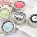 Round Personalized Candy Tins