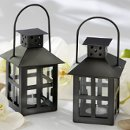 Black Mini Lantern Tea Light Holders