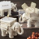 Ivory Elephant Tealight/Place Card Holder
