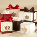 Laser Cut Fall Themed Favor Boxes