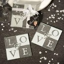 LOVE Glass Coasters