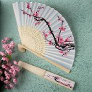Cherry Blossom Folding Silk Fan