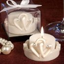 Interlocking Heart Design Candle Holders