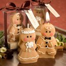 Gingerbread Bride and Groom Candles