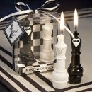 Bride and Groom Chess Piece Candles