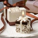 Ivory and Brown Gift Box Candles