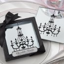 Mirrored Chandelier Coaster