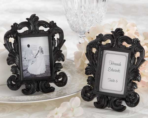 Elegant Black Place Card Holder/Photo Frame