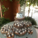 Rustic Cake Pop Display with hand painted cutting cake