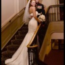 130x130 sq 1386343325504 abe wedding   bride on stairs rugereas