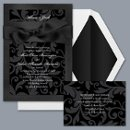 Treasured Jewels Pattern - Onyx & Black Invitation Item Number DBN9855I5D Beautiful colors and patterns combine for an invitation with a rich, jewel-tone look.