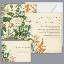 Nature's Gift - Invitation Item Number DB9841AA5D A floral and nature-inspired wedding invitation with wildflowers and butterflies on BOTH SIDES, creates a beautiful, natural theme for your rustic, outdoor or garden wedding.