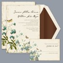 Natural Glade - Invitation Item Number DB9841AA1L The fresh appeal of free-flowing wild flowers and butterflies makes a nature-inspired, two-sided wedding invitation more beautiful.