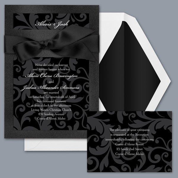 Treasured Jewels Pattern   Onyx U0026 Black Invitation Item Number DBN9855I5D  Beautiful Colors And Patterns Combine