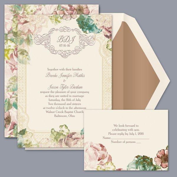 Introducing the David's Bridal Wedding Invitation Collection. We're thrilled to present our new line of wedding invitations and save the dates, available at Shutterfly.