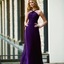 L2063 Mock-halter gown with ruched waistband Fall 2009 Collection