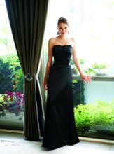 L3004 Strapless crumb-catcher neckline with pleated front and accent pin at waist. Spring 2010 Collection