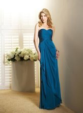 L4005 Strapless sweetheart gown with ruched bodice and draped skirt. Spring 2011 Collection